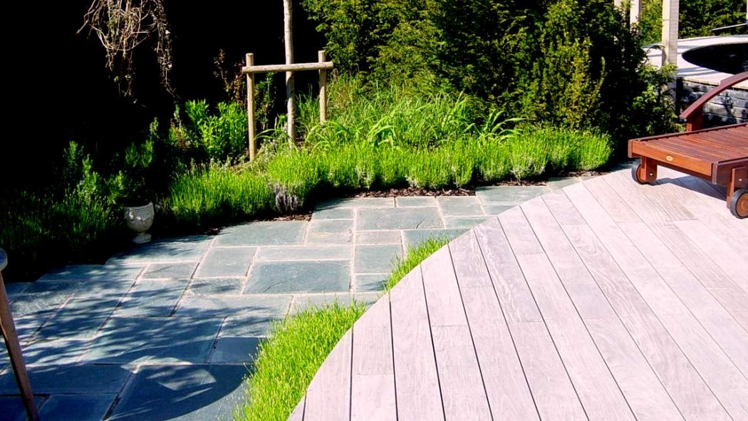 Decking and patio landscape by Indigo, Northamptonshire