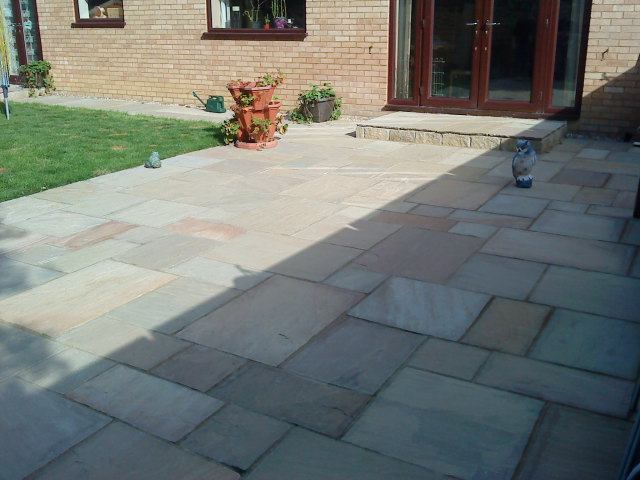 Patio by Indigo Landscaping, Northampton